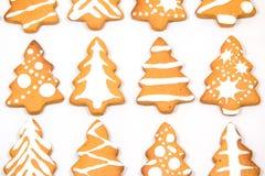 姜饼圣诞树 库存图片
