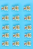 姜饼圣诞节无缝的样式 库存照片