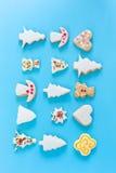 姜饼圣诞节无缝的样式 免版税库存照片