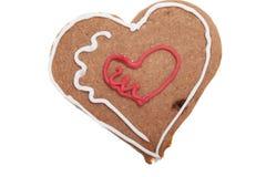 姜饼心脏圣诞节曲奇饼。 向量例证