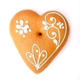 姜饼心脏 库存图片