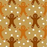 姜饼无缝的模式 免版税库存图片