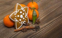 姜饼星用香料 库存图片