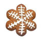 姜饼曲奇饼被做以圣诞节星的形式 库存照片