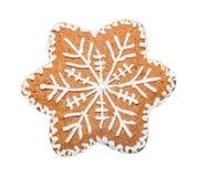 姜饼曲奇饼被做以圣诞节星的形式 免版税库存照片