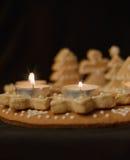 姜饼花圈垂直视图 图库摄影
