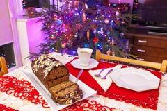 姜饼蛋糕用巧克力 图库摄影