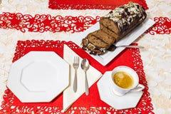 姜饼蛋糕用巧克力 免版税库存照片