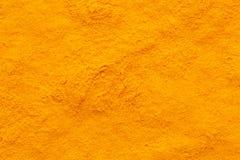 姜黄姜黄香料粉末充分的框架毛面 库存图片