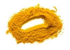 姜黄粉末或姜黄 库存图片