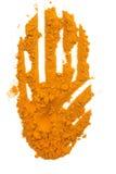 姜黄粉末 库存图片