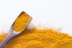 姜黄粉末 图库摄影