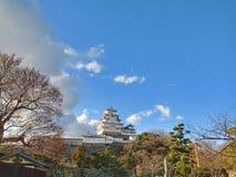 姬路城在堪萨斯京都,日本 免版税库存图片