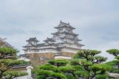 姬路城在日本,也称白色苍鹭城堡 库存照片