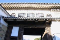 姬路城堡城堡门在姬路 图库摄影