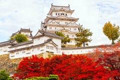 姬路城堡,日本 免版税库存图片