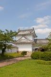 姬路城堡,日本Hyakkenroka走廊入口  联合国科教文组织 免版税库存照片