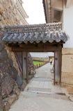 姬路城堡,日本Mizunoni门  联合国科教文组织站点 库存照片