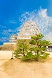 姬路Jo城堡基地堡垒树蓝天v 库存照片