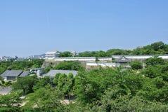 从姬路jo城堡的看法在日本在兵库县 库存图片