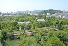 从姬路jo城堡的看法在日本在兵库县 免版税图库摄影
