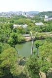 从姬路jo城堡的看法在日本在兵库县 免版税库存图片