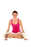 姿势女子瑜伽 免版税库存图片