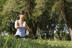 姿势瑜伽 图库摄影
