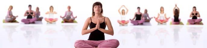 姿势瑜伽 免版税库存图片