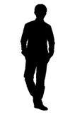 姿势silhouette2身分 图库摄影