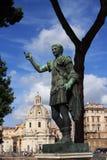 威严的皇帝意大利罗马雕塑 库存照片