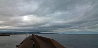 威克洛爱尔兰港口防堤墙壁 库存照片