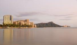 威基基奥阿胡岛夏威夷全景  库存照片