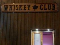 威士忌酒俱乐部 库存照片