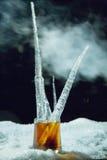 威士忌酒冰 免版税库存照片