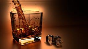 威士忌酒冰 库存图片