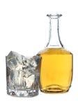 威士忌酒和冰三 库存图片