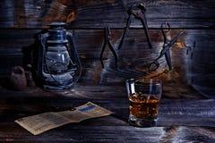 威士忌酒在老车间 库存图片