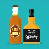 威士忌酒构思设计 库存照片