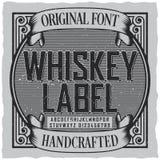 威士忌酒标签字体海报 库存图片