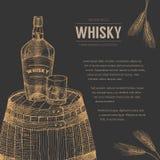威士忌酒模板 皇族释放例证