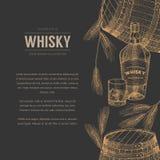 威士忌酒模板 库存例证
