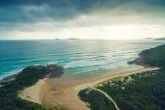 威士忌酒海湾,威尔逊` s海角,澳大利亚 免版税库存图片
