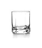 威士忌酒的空的玻璃 库存图片