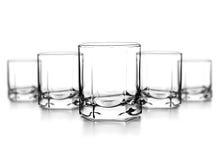威士忌酒的空的玻璃 库存照片