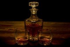 威士忌酒蒸馏瓶 免版税图库摄影