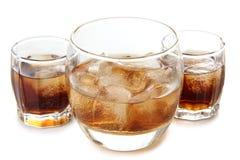威士忌酒饮料和冰 免版税库存照片