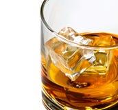 威士忌酒玻璃cliose 库存照片