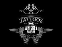 威士忌酒T恤杉设计 免版税库存图片