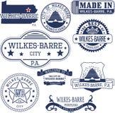 威尔克斯芭蕾市的普通邮票和标志, PA 免版税库存照片